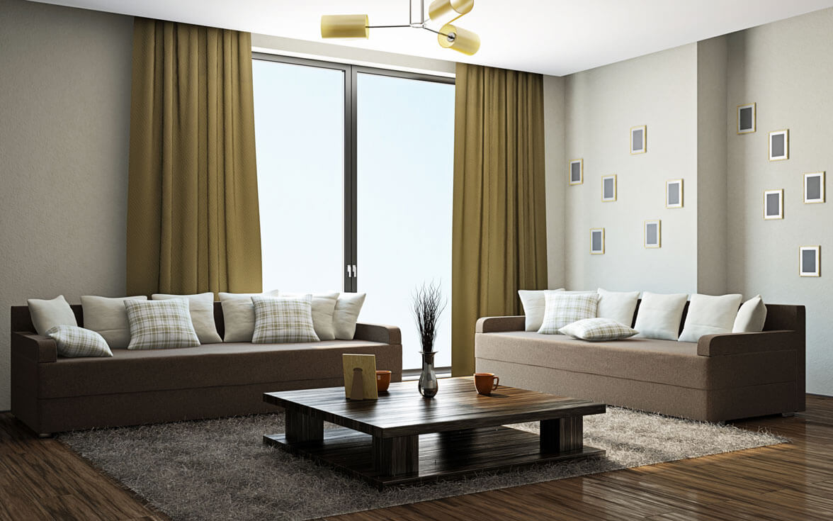 Modern and Simple Curtain for Living Room Designs